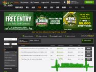DraftKings PGA Lobby Screenshot