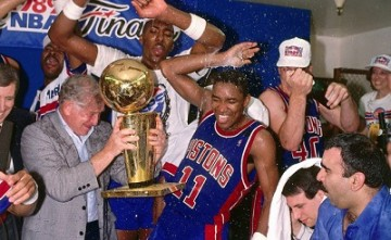 Detroit Pistons Celebrating Their 1990 Championship
